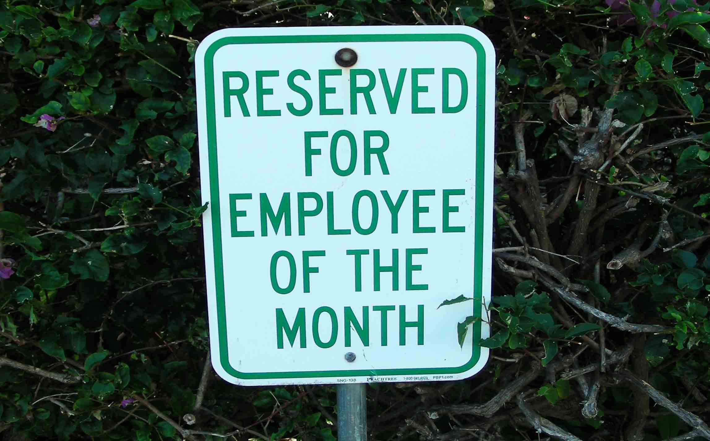 parking spot reserved for employee of the month