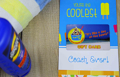coach thank you gift card holders