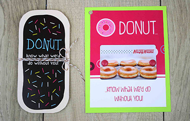 Donut know what to do without you gift card holder