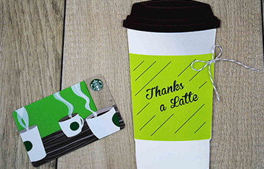 Thanks a Latte gift card holder