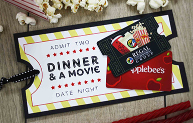 Date Night wedding gift card holder