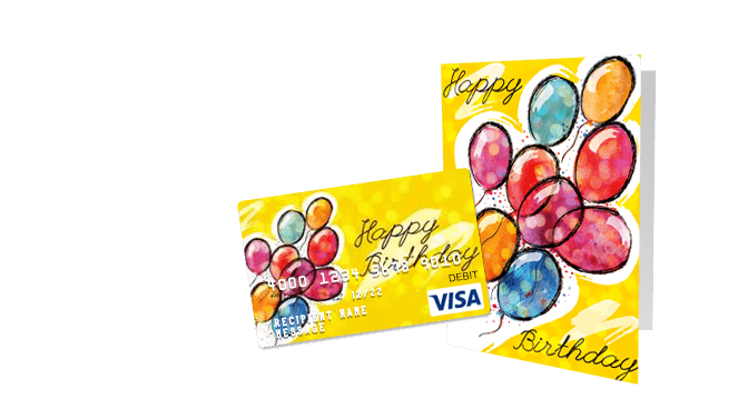 Birthday gift cards customize a visa gift card giftcards birthday gift cards negle Choice Image