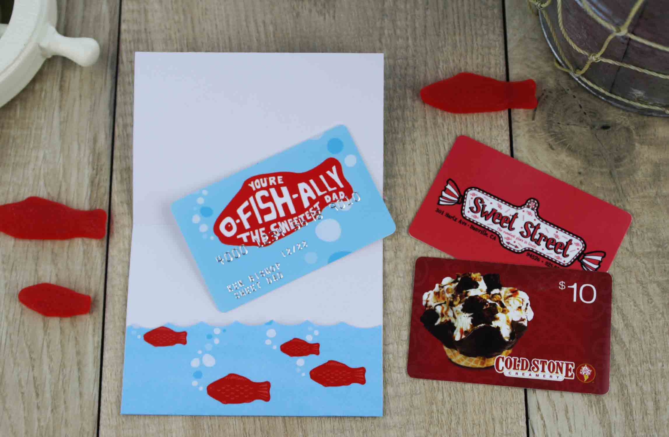 Ice Cream Gift Card Holder Fold Gift Card Holder And Put
