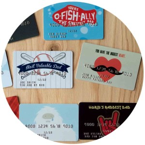 custom plastic father's day gift cards
