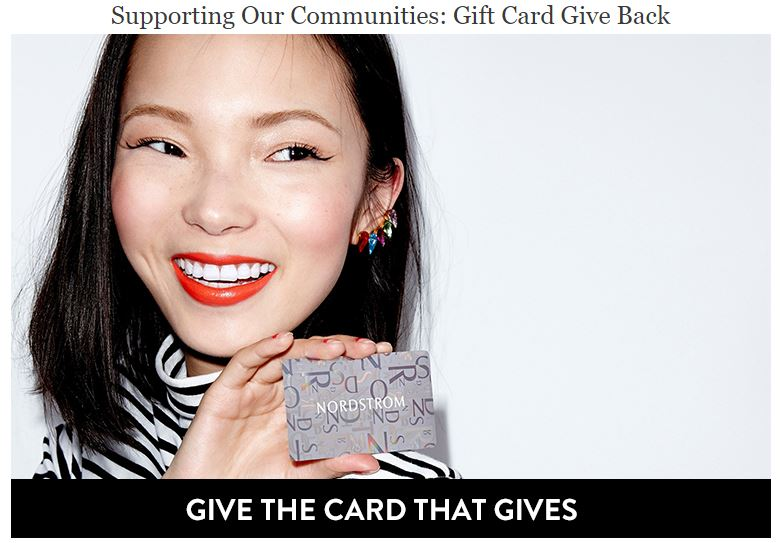 example of charity gift card