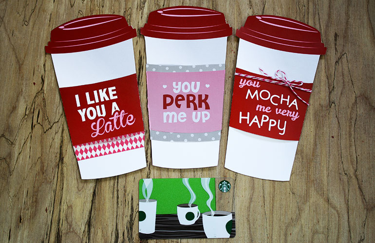 photo regarding Starbucks Printable Gift Card named No cost Present Card Holder - Latte Valentine Present Card Holder