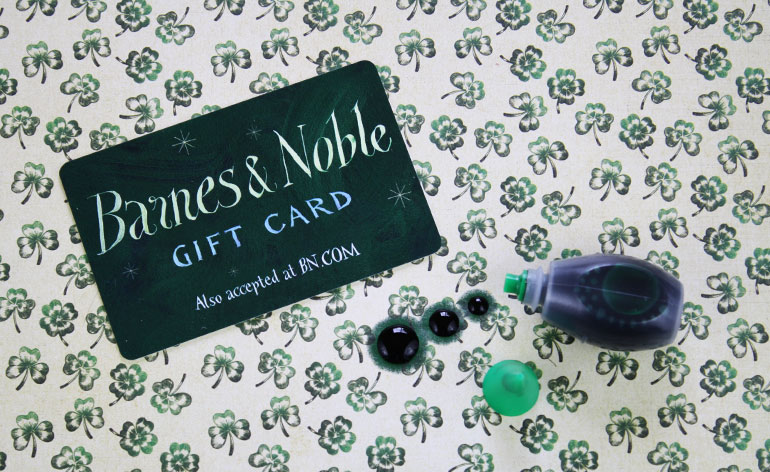 Barnes and Noble Green Gift Card