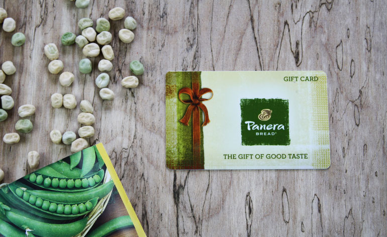 green Panera gift card