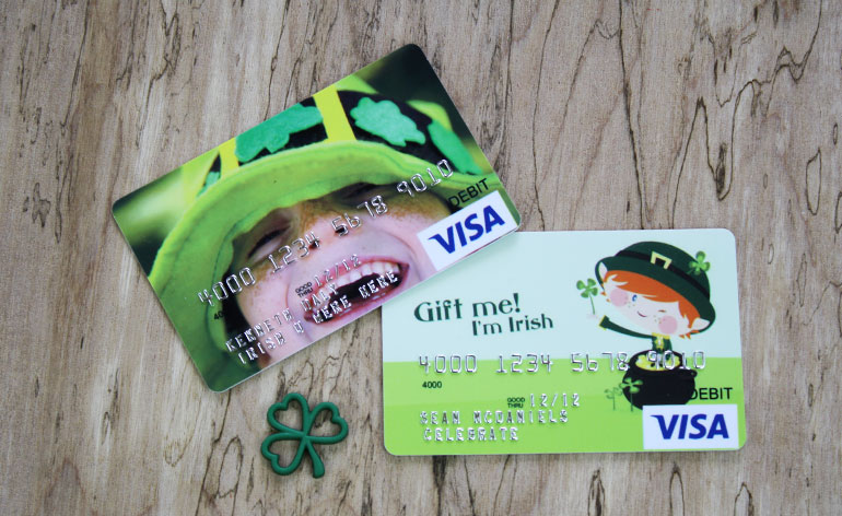 Green Visa gift card