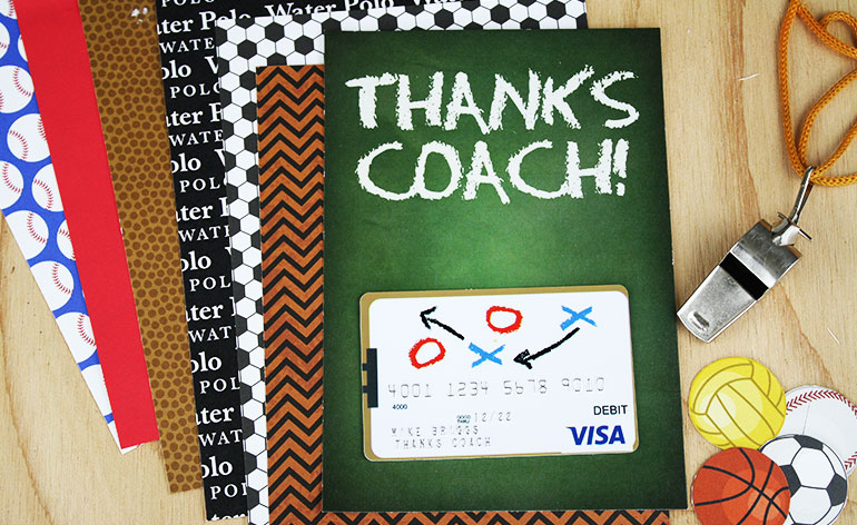 chalk talk card with backer