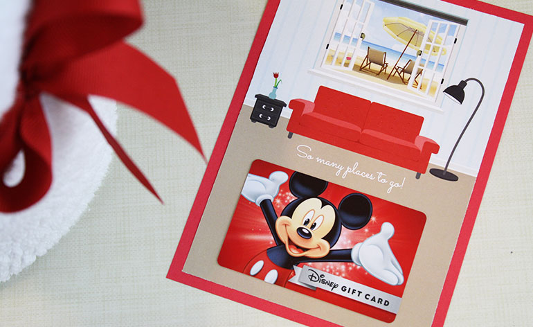 Disney gift card holder