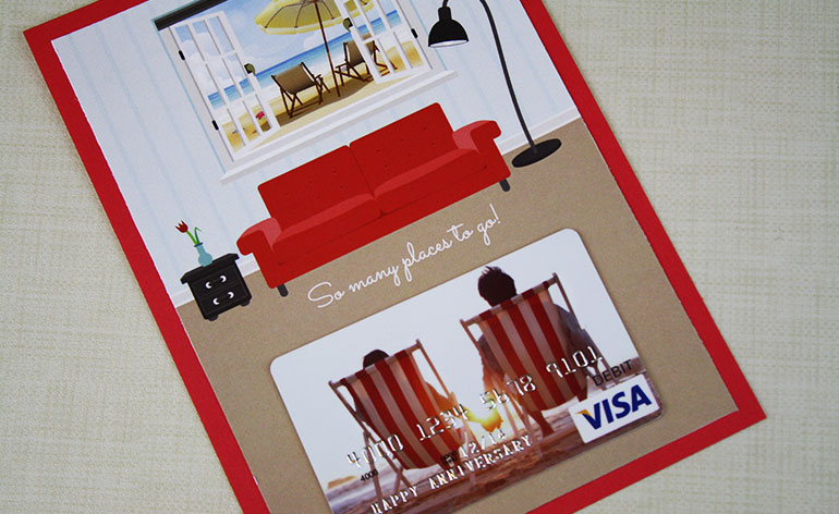 Visa beach gift card holder