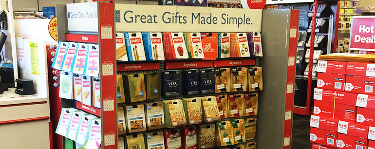 gift card kiosk in stores