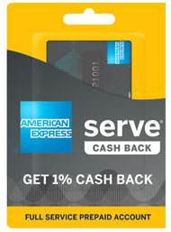 visa debit card american express serve cash back - Reloadable Prepaid Debit Card