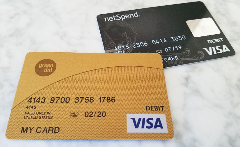 greendot and netspend reloadable prepaid cards - United Visa Credit Card