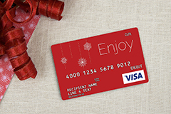 Pre-designed Gift Card for Holidays