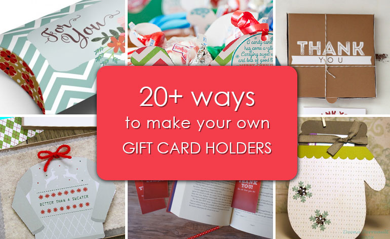 ways to make your own gift card holders