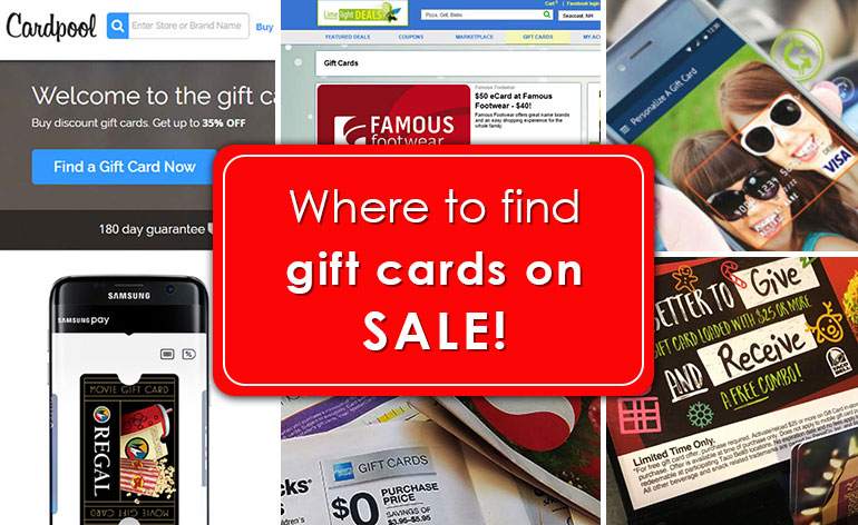 where to find a sale on gift cards - Gift Card Places