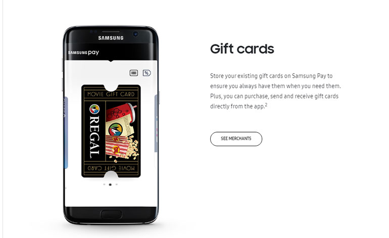 samsung pay gift card deals