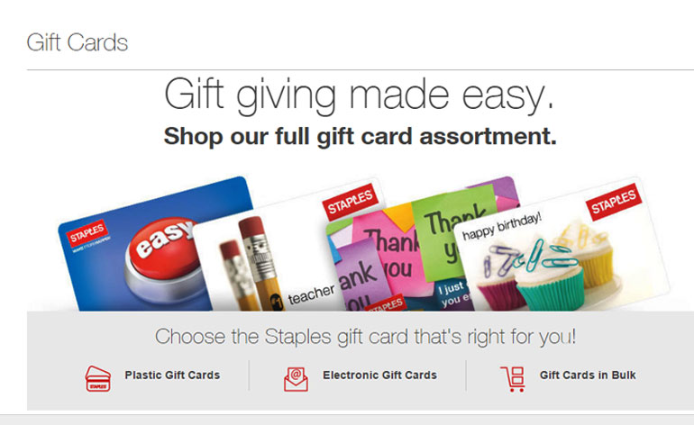 staples discount gift cards