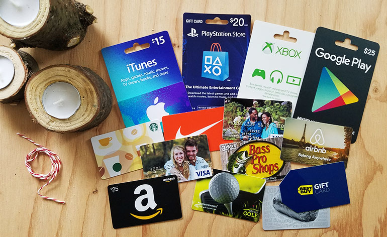 Pile Of Best Gift Cards For Men