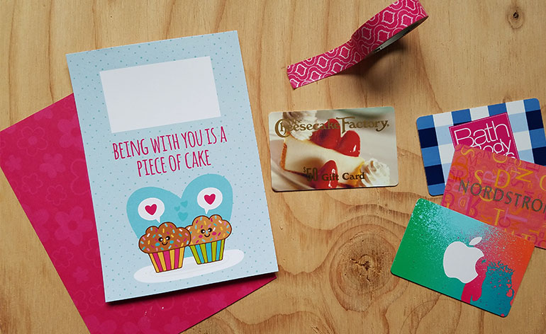 picture regarding Printable Restaurant Gift Cards titled Free of charge Present Card Holder - Valentine is a Piece of Cake