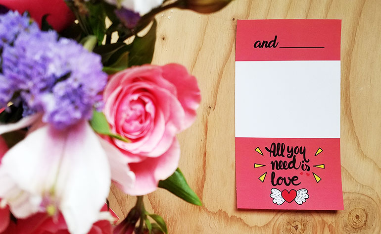 All You Need Is Love And A Valentine Gift Card Gcg