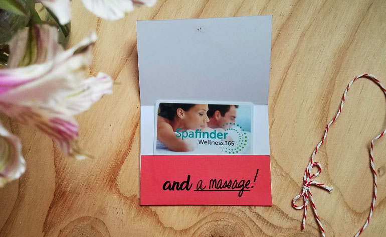 massage gift card inside